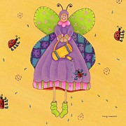 Antennae Painting Prints - Matilda Print by Tracy Campbell