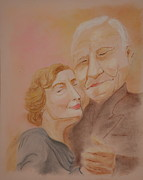 Couple Pastels Prints - Matilde y Sergio Print by Jocelyn Paine
