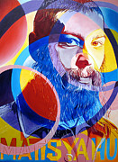 Jewish Paintings - Matisyahu in Circles by Joshua Morton