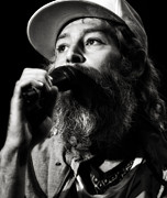 Bands Prints - Matisyahu live in concert 3 Print by The  Vault - Jennifer Rondinelli Reilly