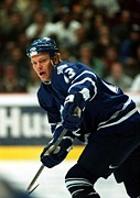 Puck Framed Prints - Mats Sundin in action Framed Print by Sanely Great