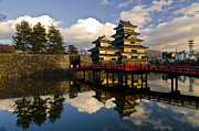 Castle Photo Metal Prints - Matsumoto Reflection Metal Print by Aaron S Bedell