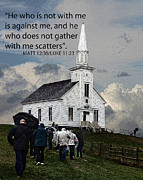 Bible Verse Photos - Matt 12 30 by Tom Griffithe