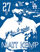 Baseball Drawings Framed Prints - Matt Kemp Framed Print by Israel Torres