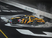 Tire Drawings - Matt Kenseth Wins at Bristol by Paul Kuras