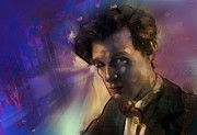 Tardis Framed Prints - Matt Smith Doctor Who Framed Print by Barry Sachs