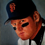 Gold Glove Paintings - Matt Williams by Jena Rockwood