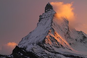 Zermatt Framed Prints - Matterhorn at sunset Framed Print by Jetson Nguyen