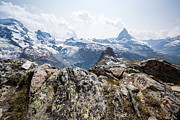 Zermatt Framed Prints - Matterhorn in summer Zermatt Switzerland Framed Print by Matteo Colombo