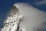 Matterhorn Prints - Matterhorn peak shrouded in clouds Print by Jetson Nguyen