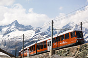 Zermatt Framed Prints - Matterhorn railway Zermatt Switzerland Framed Print by Matteo Colombo