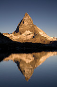 Matterhorn Prints - Matterhorn Reflected in Riffelsee Lake  Print by Ingo Arndt