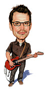 Caricaturist Metal Prints - Matthew Good Metal Print by Art