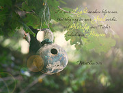 Gospel Photo Prints - Matthew Verse Print by Lena Auxier