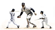 Metal Prints Drawings - Mattingly Don Mattingly by Iconic Images Art Gallery David Pucciarelli