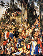 Albrecht Metal Prints - Matyrdom of the Ten Thousand Metal Print by Albrecht Durer