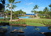 Travel Destinations Paintings - Maui Garden by Danny Smythe