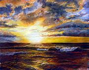 Sunrise Prints Paintings - Maui Gold by Mary Giacomini