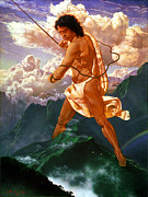 Demigod Prints - Maui the Hawaiian Demigod Print by Thomas Christian Wolfe