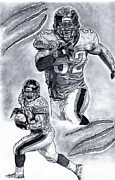 Pro Football Prints - Maurice Jones-Drew 32 Print by Jonathan Tooley