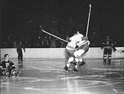 Hockey Photos - Maurice Richard in action by Sanely Great