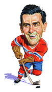 Canadiens Paintings - Maurice Rocket Richard by Art