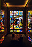 Queen Of Heaven Prints - Mausoleum Stained Glass 01 Print by Thomas Woolworth