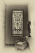 Queen Of Heaven Framed Prints - Mausoleum Stained Glass 02 Framed Print by Thomas Woolworth