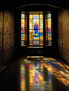 Queen Of Heaven Prints - Mausoleum Stained Glass 06 Print by Thomas Woolworth