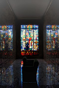 Queen Of Heaven Framed Prints - Mausoleum Stained Glass 07 Framed Print by Thomas Woolworth