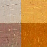 Abstracted Paintings - Mauve and Peach by Michelle Calkins