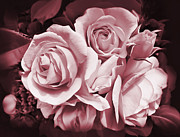 Mauve Roses Photo Acrylic Prints - Mauve Rose Flower Bouquet Acrylic Print by Jennie Marie Schell