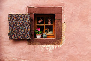 Alsace Framed Prints - Mauve Wall and Window in Alsace France Framed Print by Greg Matchick