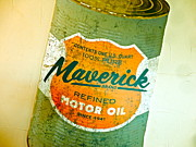 Motor Oil Framed Prints - Maverick Moto Oil Framed Print by Chuck Taylor
