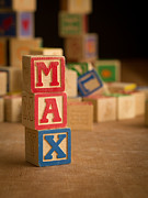 Max Prints - MAX - Alphabet Blocks Print by Edward Fielding