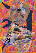 Baseball Paintings - Max and Miguel by Donald Pavlica
