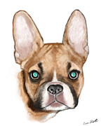 Dog Portrait Digital Art Originals - Max by Eric Smith