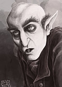 Classic Horror Framed Prints - Max Schreck Framed Print by Alexa Renee Smothers