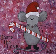 Jane Chesnut Prints - Max the Mouse Print by Jane Chesnut