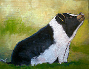 Piglet Paintings - Max the Pig by Carol Jo Smidt