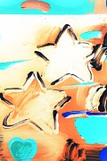 Stars And Stripes Mixed Media Prints - MAX TWO STARS in INVERTED COLORS Print by Rob Hans