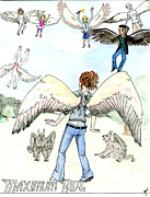 Book Cover Drawings - Maximum Ride book poster by Gabrielle Lang