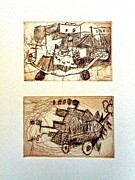 Printmaking Originals - Maxs Machines by Amy Hsiao