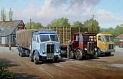 Transport Paintings - Maxs transport cafe by Mike  Jeffries