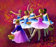 Ballet Dancers Prints - May Dancers Print by Ric Darrell