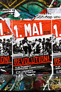 Leftist Framed Prints - May Day 2012 Poster Calling for Revolution Framed Print by Jannis Werner