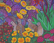 Verbena Paintings - May flowers by Marcela C Lubian