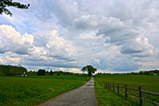 Byron Varvarigos - May Storm Clouds and a Patch of Blue over the Farm