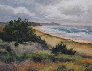 Picturesque Painting Prints - May Storm - Montauk Print by Gregory Arnett