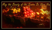 May The Bounty Of The Season Be Upon You - Apples Print by Miriam Danar